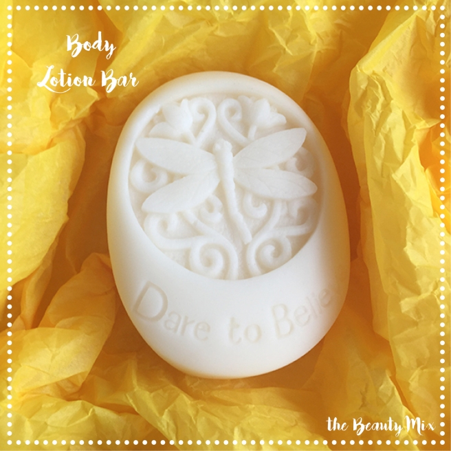 A body Lotion Bar from a decorative mould